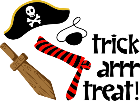 A boys perfect Halloween costume to dress up as a pirate.  Get this image for your next design.