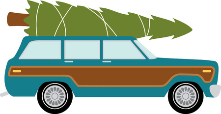 Station wagon car to transport your christmas tree.