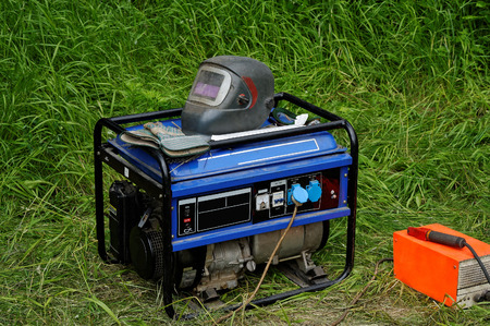 Gasoline Generator with equipment for electric welding.