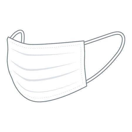 Illustration pour Face Mask - image libre de droit