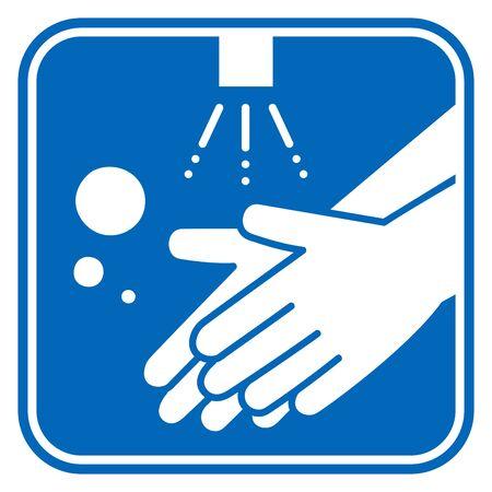 Illustration for Hand washing vector illustration icon - Royalty Free Image