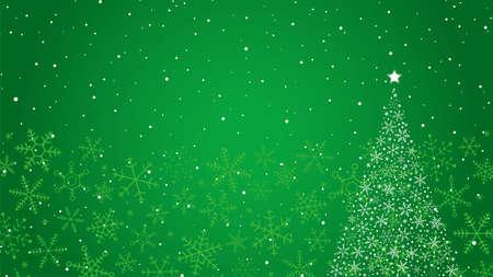 Illustration pour Snowflake Christmas Tree and Background - image libre de droit