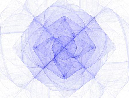 high resolution flame fractal forming a flower/ mandala