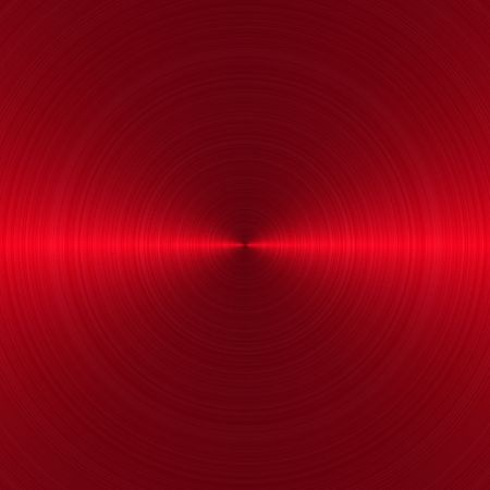 circular brushed red metallic background with central, horizontal highlight