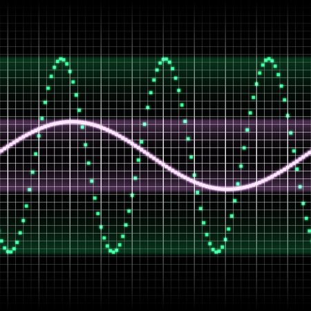 digitally created sound wave pattern, seamlessly tillable