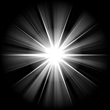 bright white star over black sky