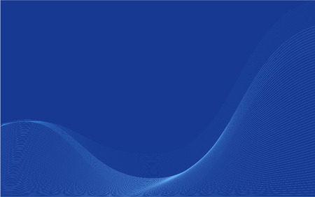 Blue Wavy Organic Wallpaper Also Suitable As Business Cards
