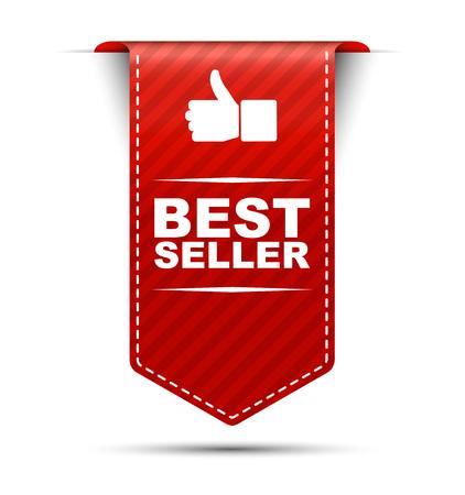 Illustration pour This is red vector banner design best seller - image libre de droit