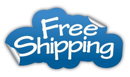 Ilustración de shipping, free shipping, sticker free shipping, blue sticker free shipping, blue vector sticker free shipping, free shipping eps10, design free shipping, sign free shipping - Imagen libre de derechos