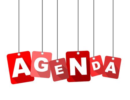 Ilustración de Red vector flat design background agenda. It is well adapted for web design. - Imagen libre de derechos