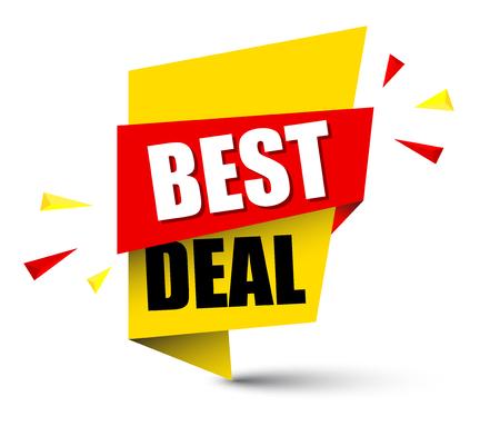 Illustration for Banner best deal illustration design. - Royalty Free Image