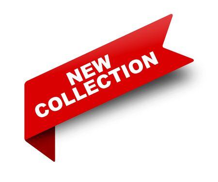 Illustration pour red vector banner ribbon new collection - image libre de droit