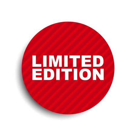 Illustration pour red circle banner element limited edition - image libre de droit
