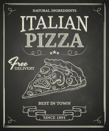 Chalkboard Italian Pizza Poster
