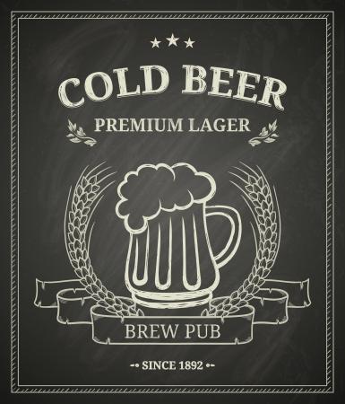 Chalkboard Brew Pub Poster