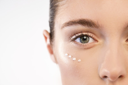 Foto de Anti-aging and night and day. Concept of beauty, creams, skincare and clear. - Imagen libre de derechos