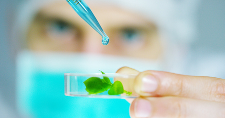 DNA and does research in biochemistry. Concept: analysis, DNA, bio, microbiology, love of nature