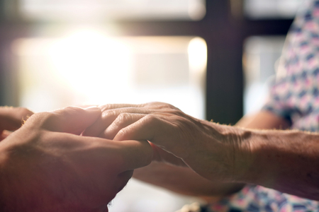 Foto für young person helps her grandmother to get up concept of elderly support and retirement help. help to people in need - Lizenzfreies Bild