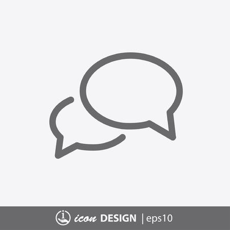 Ilustración de Pictograph of message or chat - Imagen libre de derechos