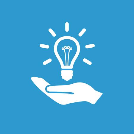 Illustration pour Pictograph of light bulb - image libre de droit