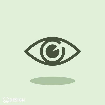 Vektor für Pictograph of eye - Lizenzfreies Bild