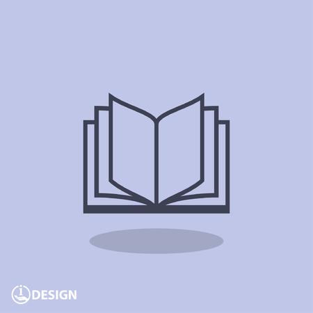 Illustration pour Pictograph of book - image libre de droit