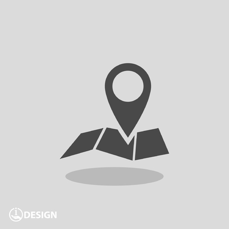 Pin on the map. Vector icon