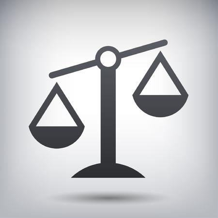 Ilustración de Pictograph of justice scales - Imagen libre de derechos