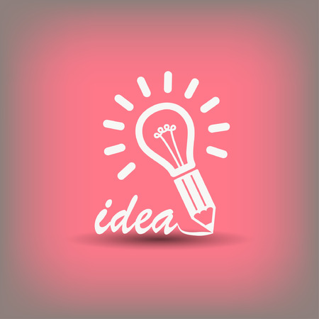 Pictograph of light bulb. Vector concept illustration for design.