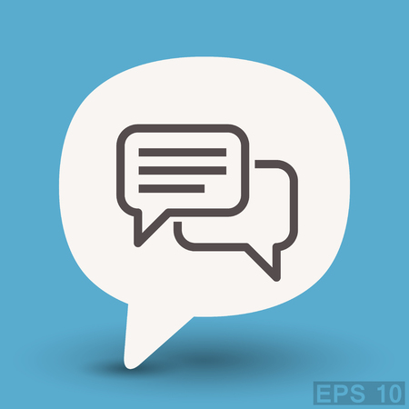Illustration for Pictograph of message or chat - Royalty Free Image
