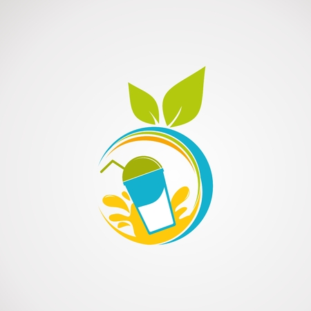 Illustration for fresh juice logo vector, icon, element, and template - Royalty Free Image