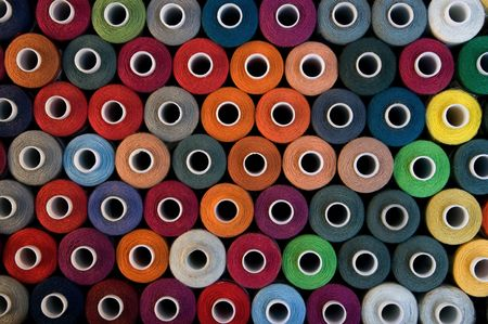A background with bobbins display