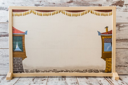 Traditional Turkish shadow play, popularized during the Ottoman period