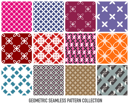 Illustration for Colorful seamless abstract modern pattern eps10 vector collection - Royalty Free Image