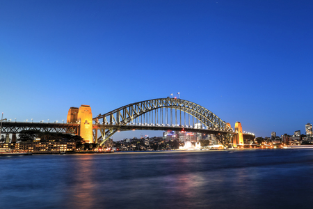 Photo for A View of Sydney Harbour Bridge at night - Royalty Free Image