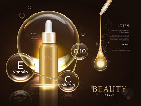 Illustration pour skin care blank package model, 3d illustration for ads or magazine - image libre de droit