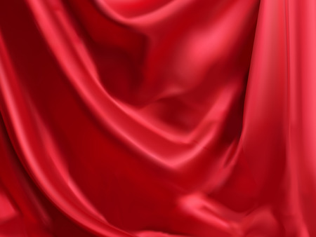 Illustration pour Classic red satin background, droop style for design uses in 3d illustration - image libre de droit