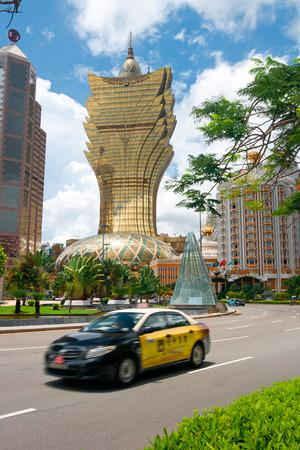 The resort casinos in downtown,MACAU,CHINA