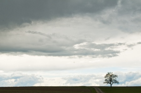 sky with dark clouds