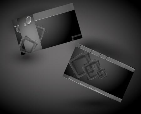 business card design illustration
