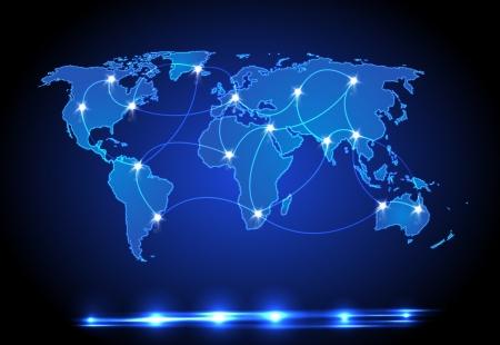 World map light design