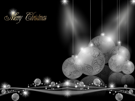 Elegant dark Christmas Background