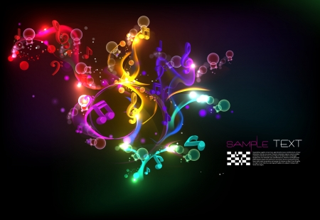Illustration for Music Magical Melody Background - Royalty Free Image