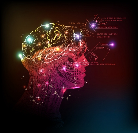human brain background light design