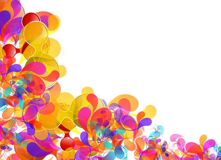Illustration for Abstract colorful design, easy editable - Royalty Free Image