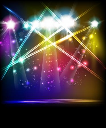 Illustration pour EPS10 Vector Stage Lights, easy all editable - image libre de droit