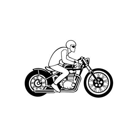Illustration pour Motorbike riding  vector , motorbike from modern transportation collection - image libre de droit