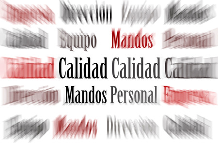 A written paper with the word calidad and more words