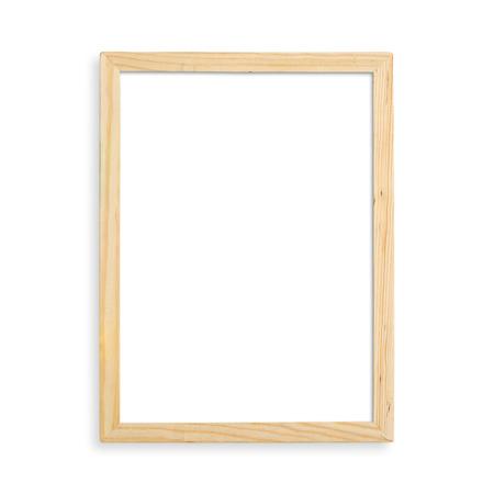 Foto de Wooden blank picture frame isolated on white background. - Imagen libre de derechos