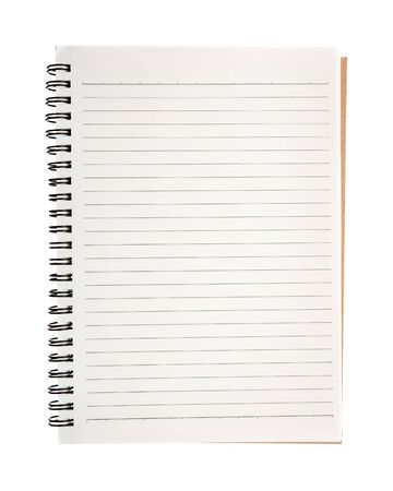 Photo for Open blank notebook isolated on white background. - Royalty Free Image